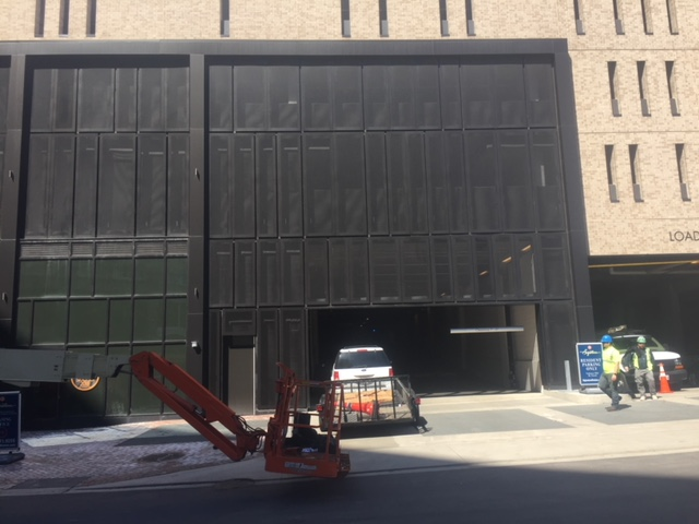 Exterior Solutions USA Perforated Panel Install at Parking Garage 2